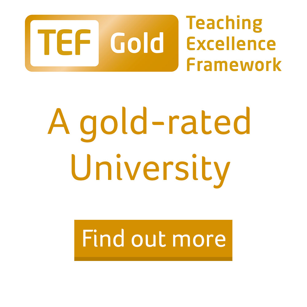 TEF Teaching Excellence Framework Gold Award Mobile