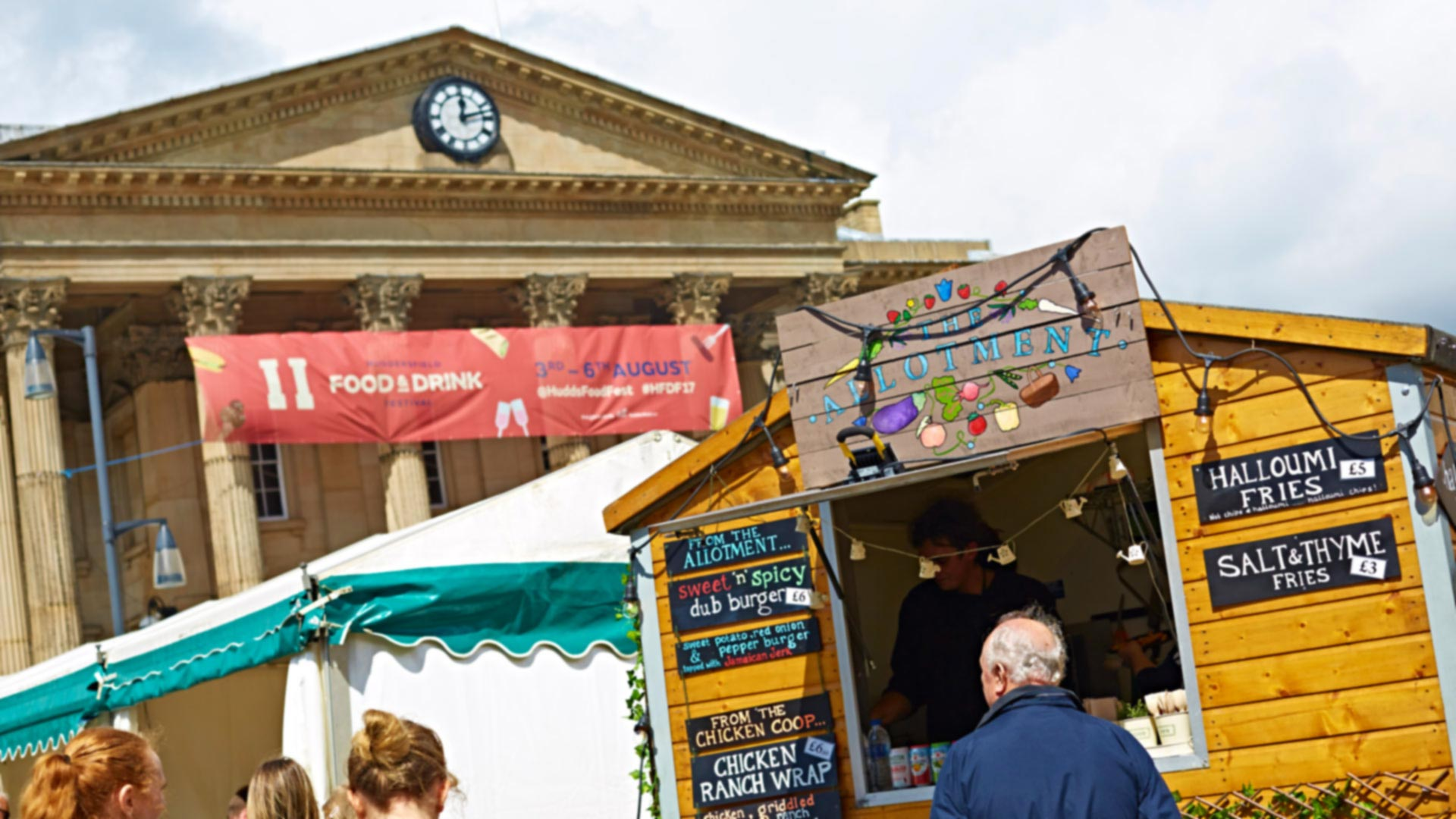A stall at the Huddersfield Food and Drink Festival