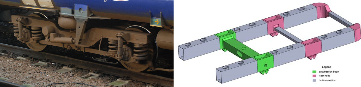 Traditional bogie and the new concept bogie