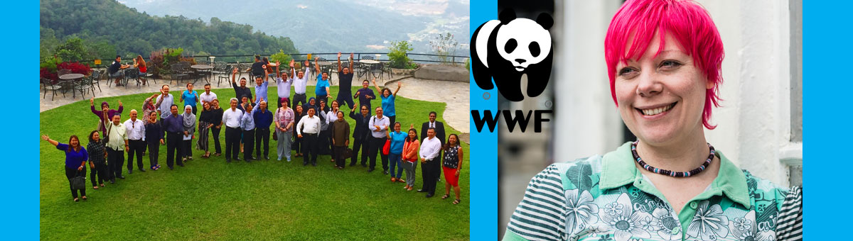 WWF in Malaysia and researcher Melanie Flynn (right)