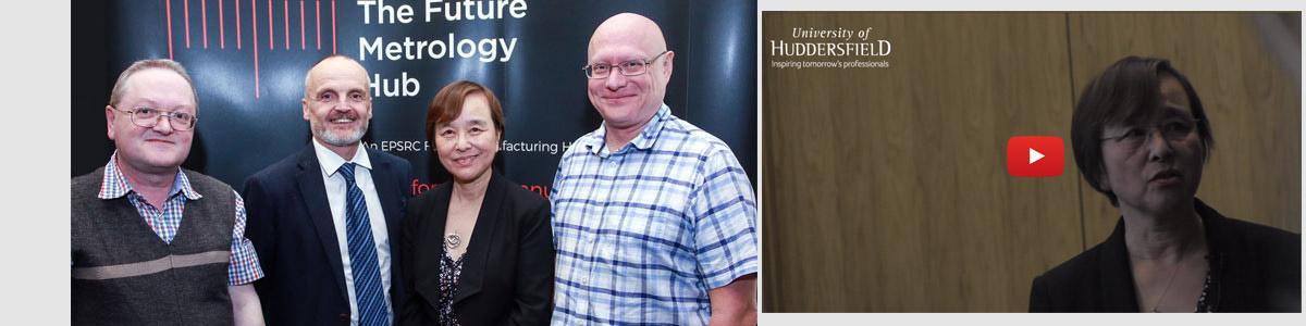 Future Metrology Hub team leaders (l-r) Professor Paul Scott, Professor Liam Blunt, Director Professor Dame Xiangqian Jiang and Dr Andrew Longstaff