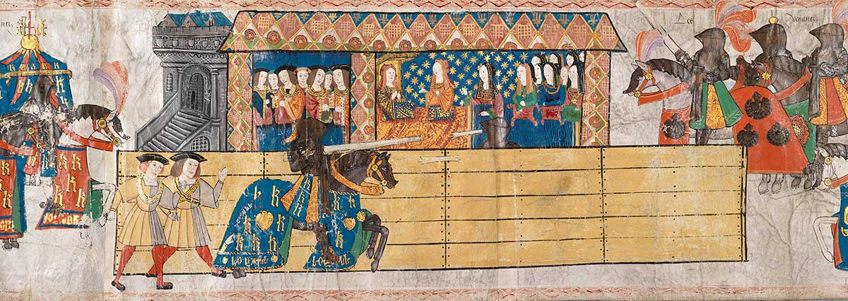 Tapestry of King Henry VIII jousting in Westminster