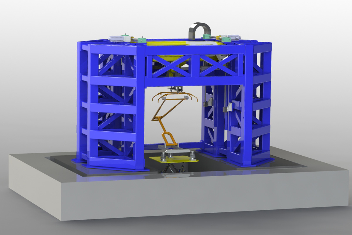 Illustration of the new pantograph test rig
