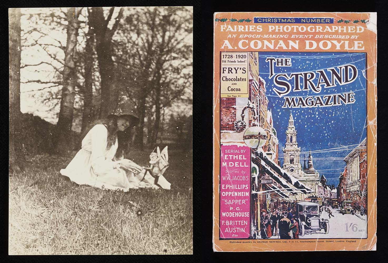 The Strand Magazine and one of the Cottingley Fairy photos