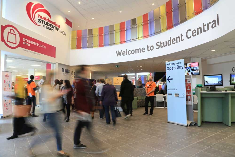 Student Central was heaving at our last Open Day as hundreds of prospective students, family and friends arrived on campus