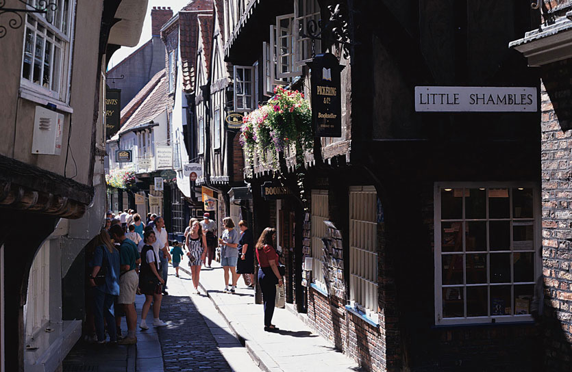 York, Check out the Shambles, Whip-ma-whopma- gate (the shortest street in the UK) and then relax with afternoon tea at Betty's.