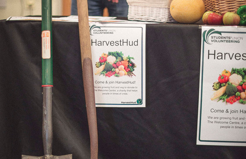 Volunteering looks great on your CV. The Students' Union offers plenty of opportunities to volunteer including HarvestHud which is pictured