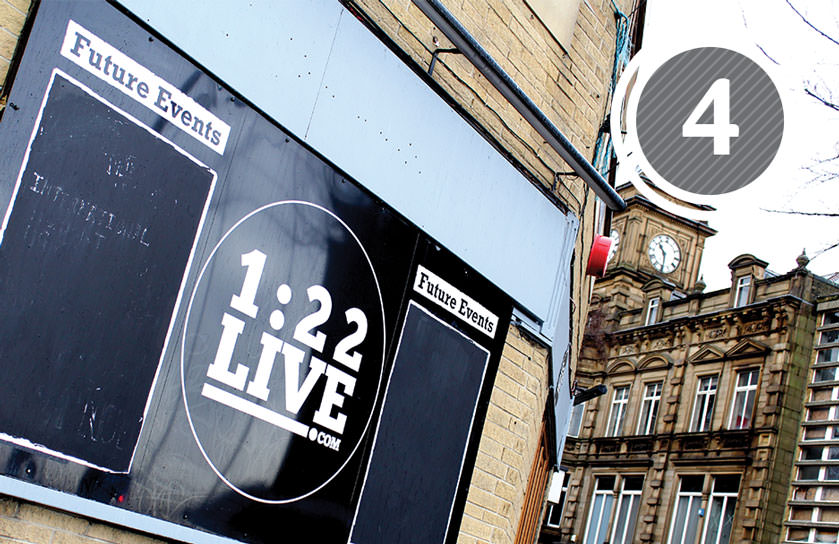 Bar 1:22 is a great venue for live music and Bar Maroc which is above is a great place to relax and unwind in Huddersfield